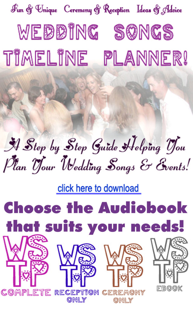 Wedding Songs Timeline Planner